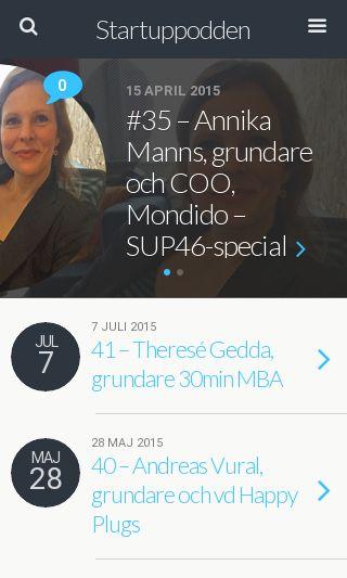 Mobile preview of startuppodden.se