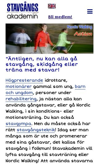 Mobile preview of stavgang.se