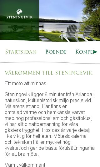 Mobile preview of steningevik.se