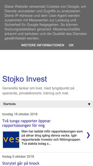 Mobile preview of stojkoinvest.blogspot.com