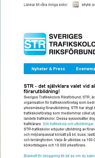 Mobile preview of str.se