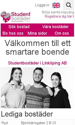 Mobile preview of studentbostader.se