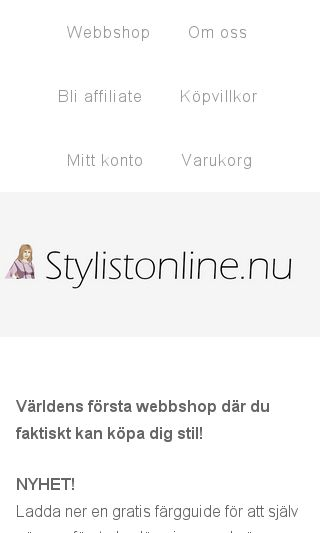 Mobile preview of stylistonline.nu