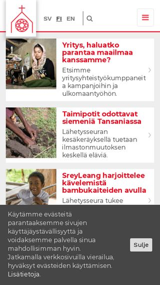 Mobile preview of suomenlahetysseura.fi