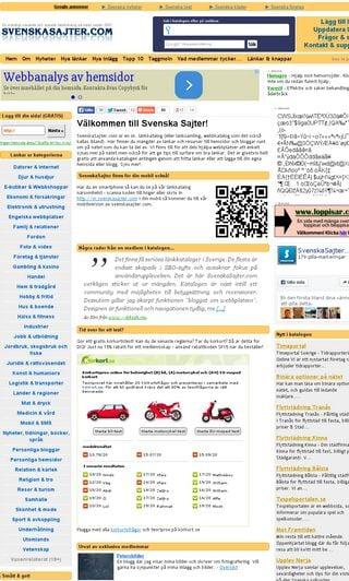 Mobile preview of svenskasajter.com