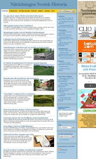 Mobile preview of svenskhistoria.se