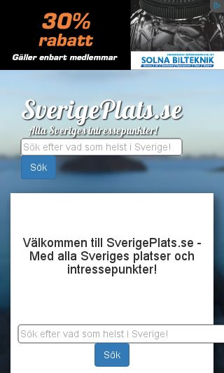 Mobile preview of sverigeplats.se