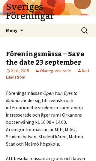Mobile preview of sverigesforeningar.se