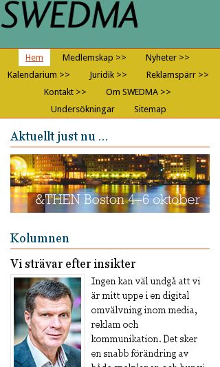 Mobile preview of swedma.se