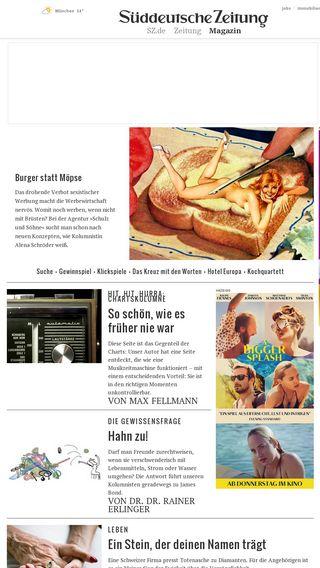 Mobile preview of sz-magazin.sueddeutsche.de