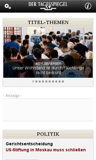 Mobile preview of tagesspiegel.de