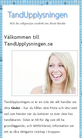 Mobile preview of tandupplysningen.se