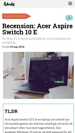 Mobile preview of teknifik.se