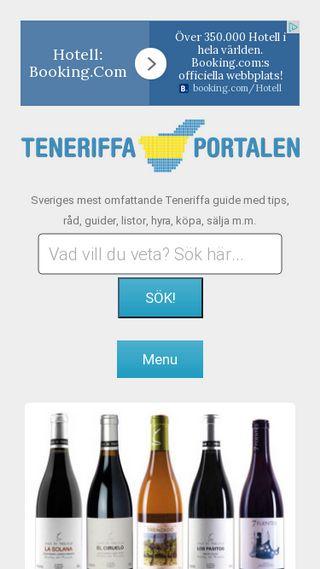 Mobile preview of teneriffaportalen.se