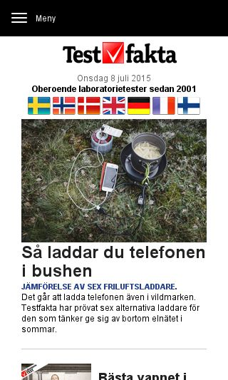 Mobile preview of testfakta.se