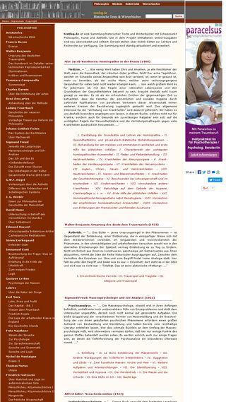 Mobile preview of textlog.de