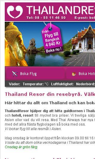 Mobile preview of thailandresor.se