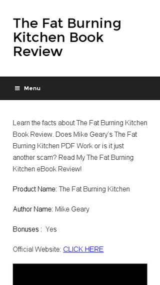 Mobile preview of thefatburningkitchen.io