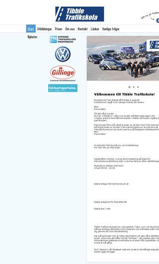 Mobile preview of tibbletrafikskola.se