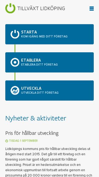 Mobile preview of tillvaxtlidkoping.se