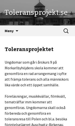 Mobile preview of toleransprojekt.se