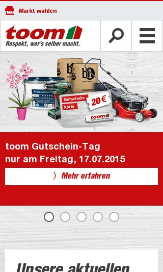 Mobile preview of toom-baumarkt.de