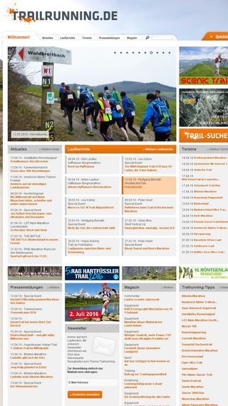 Mobile preview of trailrunning.de