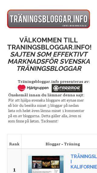 Mobile preview of traningsbloggar.info