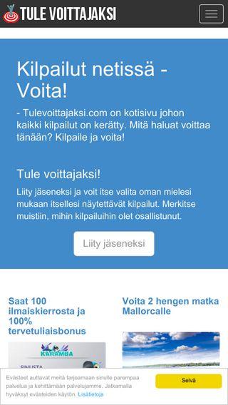 Mobile preview of tulevoittajaksi.com