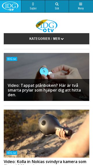 Mobile preview of tv.idg.se
