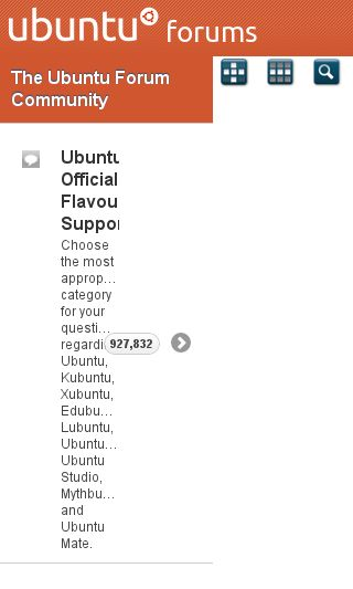 Mobile preview of ubuntuforums.org