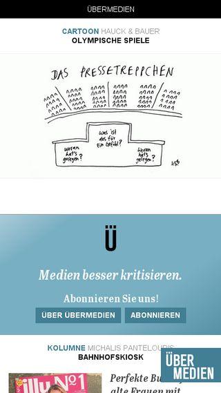 Mobile preview of uebermedien.de