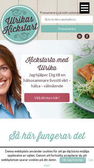 Mobile preview of ulrikaskickstart.se