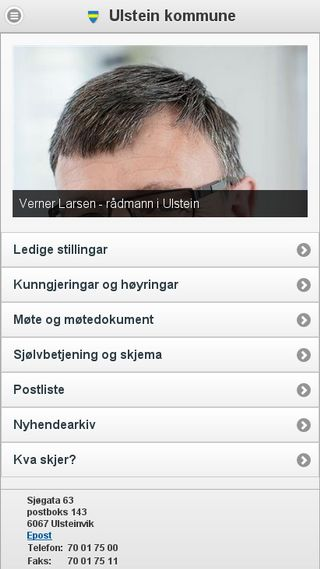 Mobile preview of ulstein.kommune.no