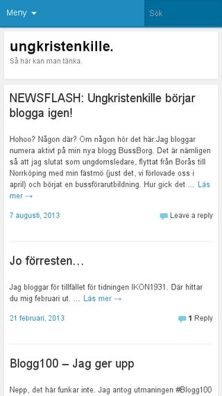 Mobile preview of ungkristenkille.wordpress.com