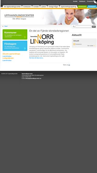 Mobile preview of upphandlingscenter.se