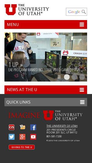 Mobile preview of utah.edu