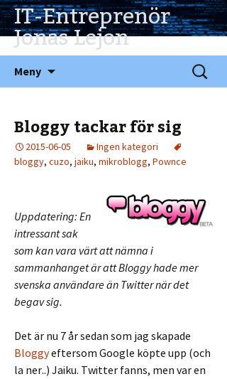 Mobile preview of utvbloggen.se