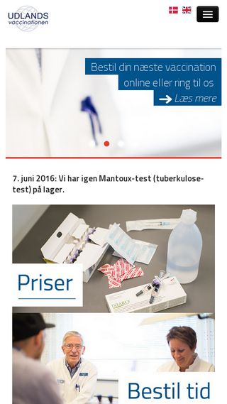 Mobile preview of vaccination.dk