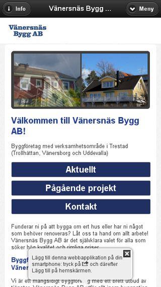 Mobile preview of vanersnasbygg.se