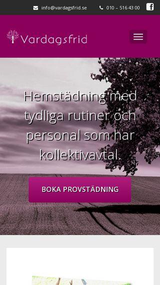 Mobile preview of vardagsfrid.se