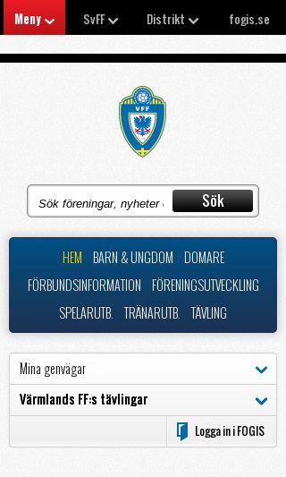 Mobile preview of varmlandsff.se