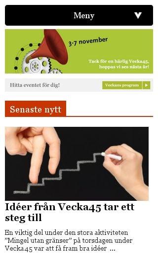 Mobile preview of vecka45.se