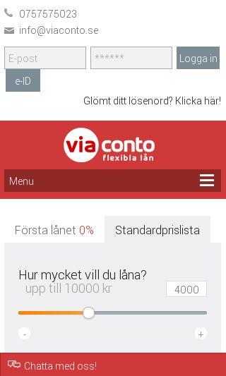 Mobile preview of viaconto.se