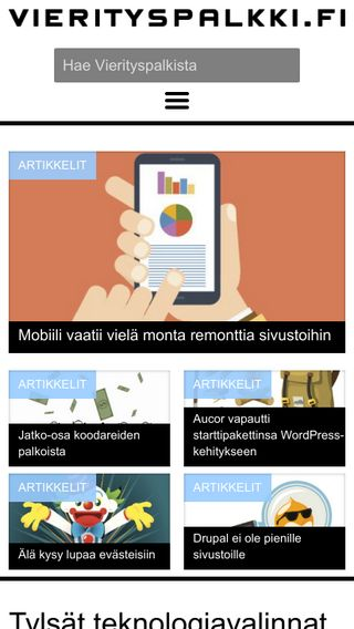 Mobile preview of vierityspalkki.fi