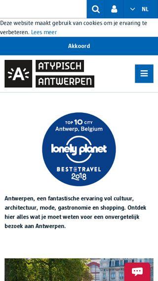 Mobile preview of visitantwerpen.be