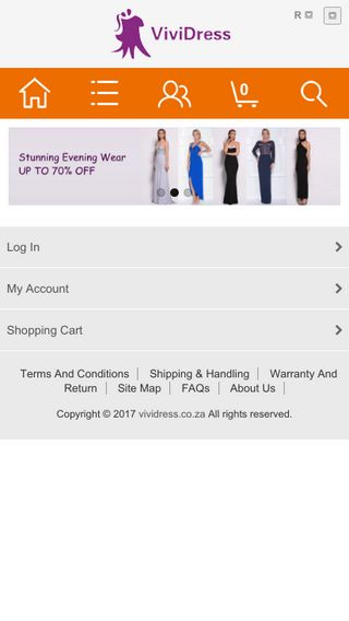 Mobile preview of vividress.co.za