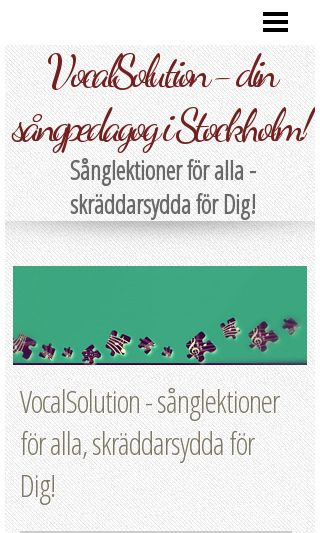 Mobile preview of vocalsolution.se