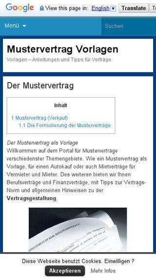 Mobile preview of vorlage-mustervertrag.de