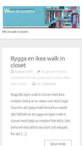 Mobile preview of walkinclosets.se